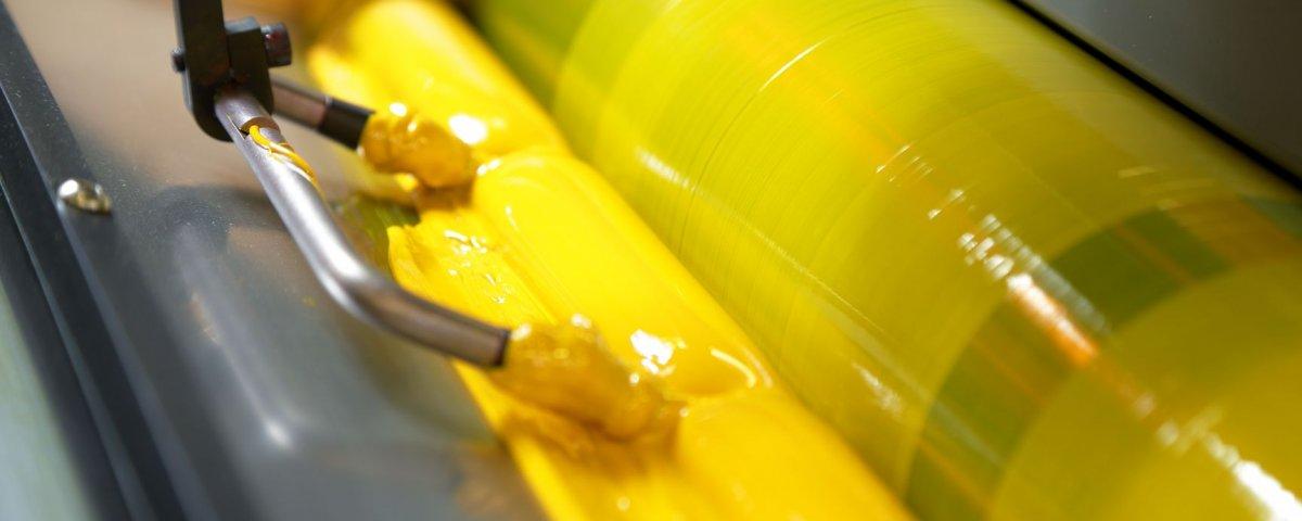 Packaging printing inks pressure