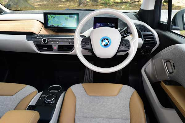 BMW I3 using olive leaves and recycled plastics for their car interrior