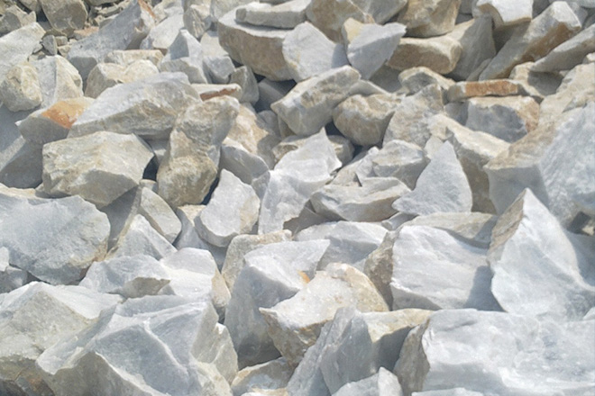Calcium carbonate is commonly found in the form of limestone